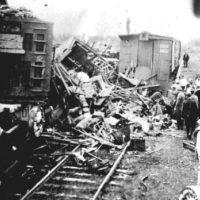 Barnes Circus train wreck