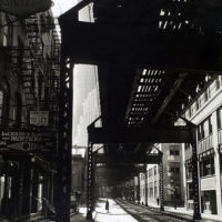 'El': 2nd & 3rd Avenue lines, looking W. from Second & Pearl...