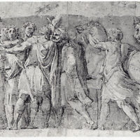 Frieze with Male Figures and Two Horses