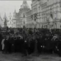 The parade of captive Austrians in Moscow. 1914