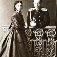 Tsesarevich Alexander (future Emperor Alexander III) and his wife Grand Duchess Maria Feodorovna.