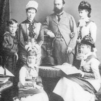 Family portrait of the Grand Duke of Hesse-Darmstadt Ludwig IV and the Grand Duchess of Hesse and Rhine Alice.