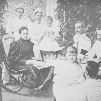 Grand Duchess Elizabeth Feodorovna with Princess Mary and Demetrius, the children of the Grand Duke Paul Alexandrovich.