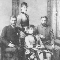 Grand Prince Sergey Alexandrovich and Grand Duchess Elisaveta Feodorovna visiting relatives in Darmstadt.