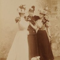 Her Imperial Highness Grand Duchess Elizabeth Feodorovna with the maid of honor (?).