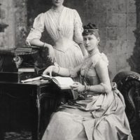 Her Imperial Majesty Empress Alexandra Feodorovna and Grand Duchess Elizabeth Feodorovna.