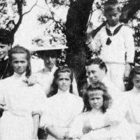 The Grand Duchess Elisaveta Feodorovna, the Great Princes Olga, Maria, Anastasia, Tatiana, Victoria Hesse-Darmstadt.