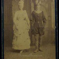 Tsarevich Nikolai Alexandrovich, in the role of Ophelia - Grand Duchess Elizabeth Feodorovna. 1888