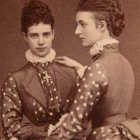 Tsesarevna Maria Feodorovna (Dagmar) and her sister Alexandra Danish.1873 year.