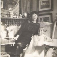 The Grand Duchess Olga Alexandrovna and her nurse Mrs. Franklin.