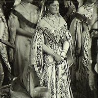 Empress Alexandra Feodorovna at the opening of the State Duma of the Russian Empire of the 1st convocation.